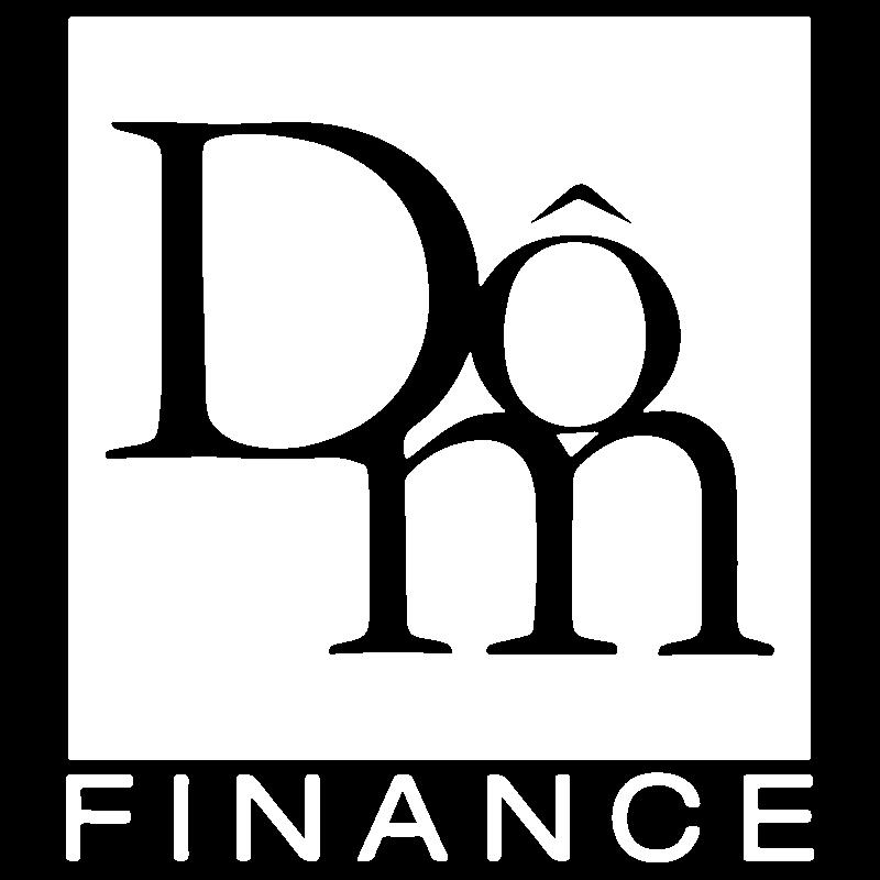 Logo Dom Finance blanc transparent